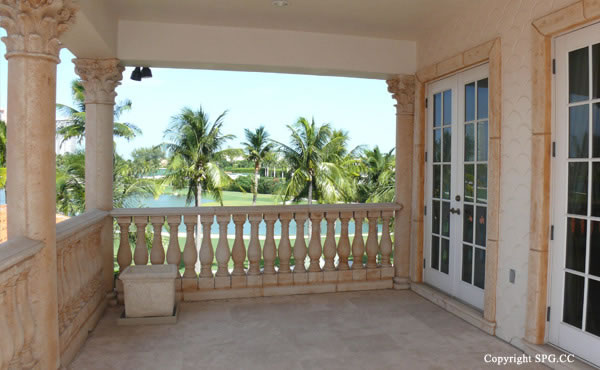 Terrace at Luxury oceanfront residence 6919 Valencia Drive, Fisher Island, Florida 33109