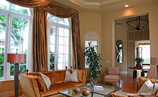 Living Room at Luxury oceanfront residence 6919 Valencia Drive, Fisher Island, Florida 33109
