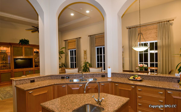 Kitchen at Luxury oceanfront residence 6919 Valencia Drive, Fisher Island, Florida 33109
