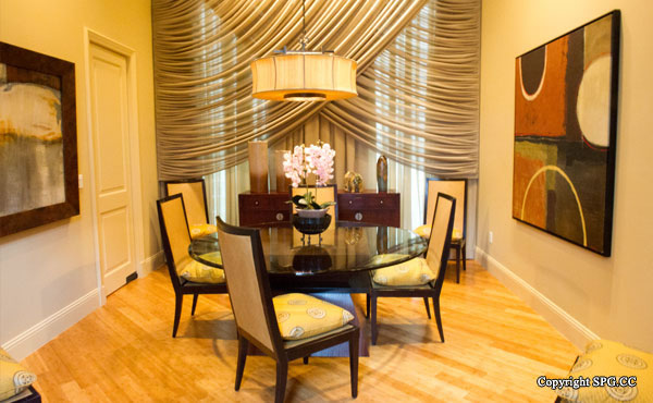 Dining Room at Luxury oceanfront residence 6919 Valencia Drive, Fisher Island, Florida 33109