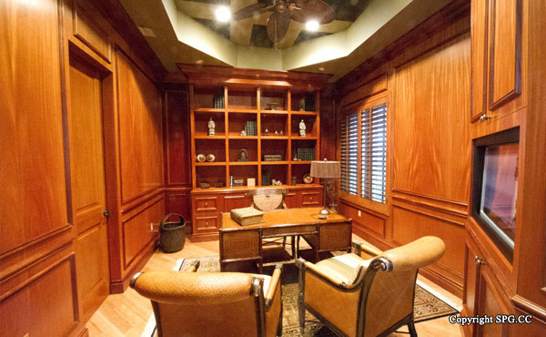 Library at Luxury oceanfront residence 6919 Valencia Drive, Fisher Island, Florida 33109