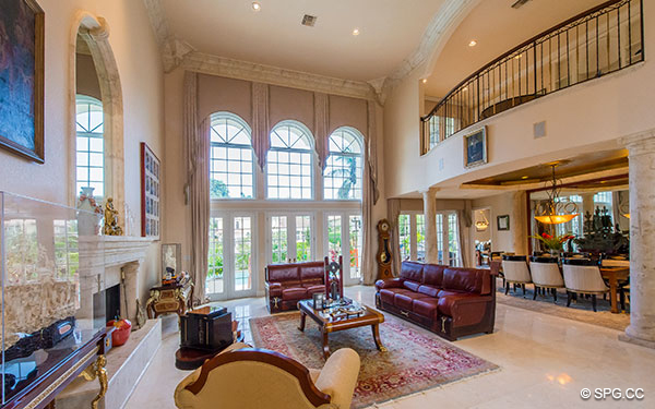 amusing two story living room | Luxury Waterfront Estate Home, 146 Nurmi Drive, Fort ...