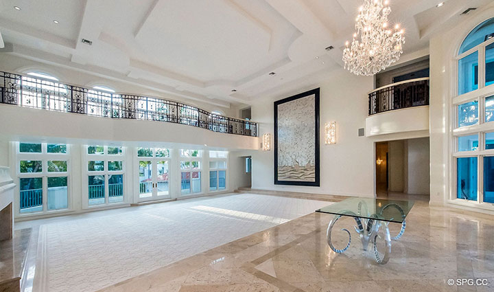 Grand Living Room in Estate Home 709 Idlewyld Drive, Fort Lauderdale, Florida 33301