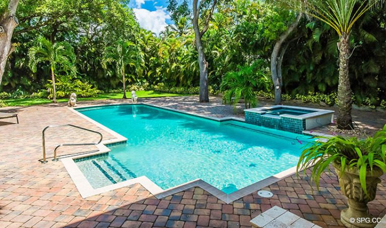 Pool Area at Luxury Estate Home, 16260 Bridlewood Circle, Delray Beach, Florida 33445