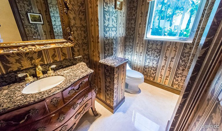 Powder Room inside Luxury Estate Home, 16260 Bridlewood Circle, Delray Beach, Florida 33445