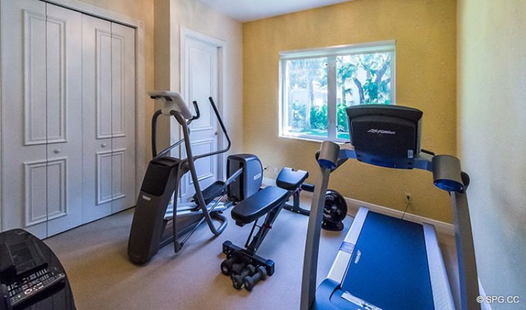 Fitness Room inside Luxury Estate Home, 16260 Bridlewood Circle, Delray Beach, Florida 33445