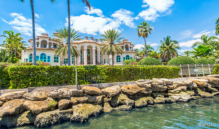 Intracoastal Dock View of Estate Home 709 Idlewyld Drive, Fort Lauderdale, Florida 33301