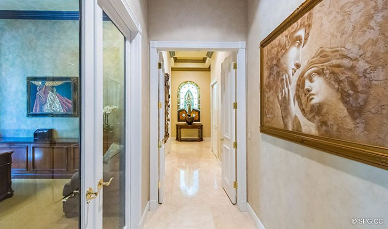 Hallway inside Luxury Estate Home, 16260 Bridlewood Circle, Delray Beach, Florida 33445