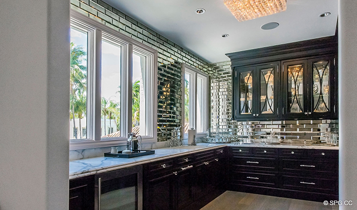 Secondary Kitchen in Estate Home 709 Idlewyld Drive, Fort Lauderdale, Florida 33301