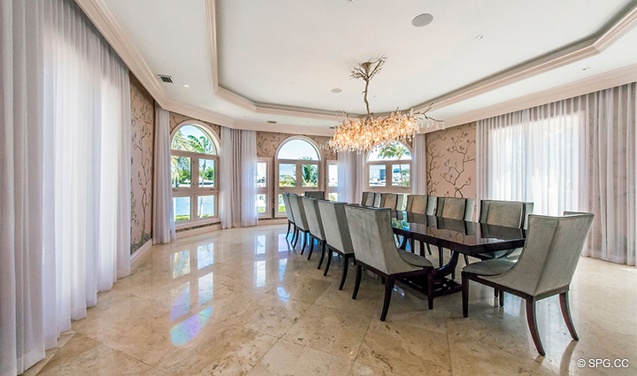 Dining Room inside Estate Home 709 Idlewyld Drive, Fort Lauderdale, Florida 33301