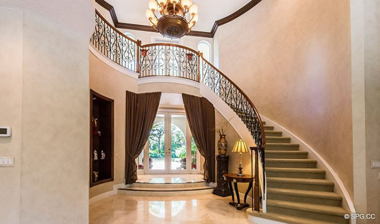 Foyer and Stairway in Luxury Estate Home, 16260 Bridlewood Circle, Delray Beach, Florida 33445