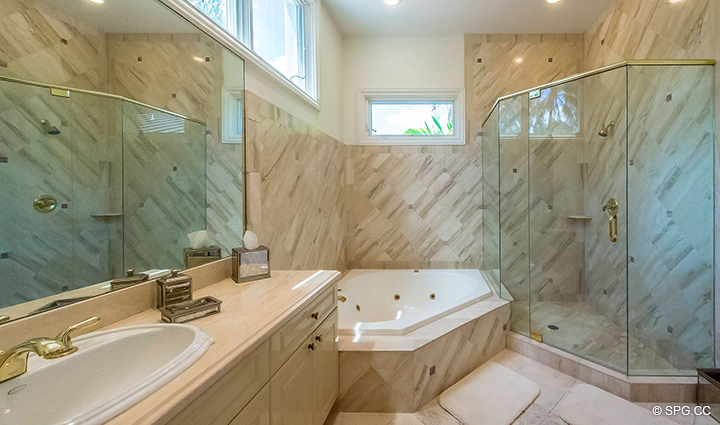 Guest Bathroom inside Estate Home 709 Idlewyld Drive, Fort Lauderdale, Florida 33301