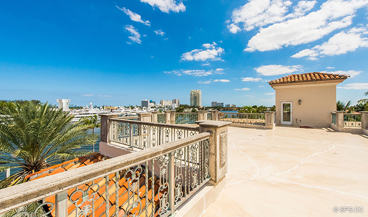 Roof Terrace at Estate Home 709 Idlewyld Drive, Fort Lauderdale, Florida 33301