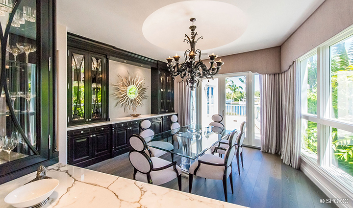 Dining Area in Estate Home 709 Idlewyld Drive, Fort Lauderdale, Florida 33301