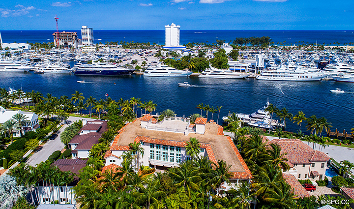 Eastern Aerial View of Estate Home 709 Idlewyld Drive, Fort Lauderdale, Florida 33301