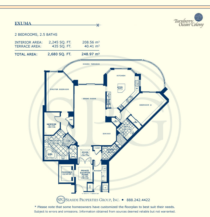 Turnberry Ocean Colony Floorplan