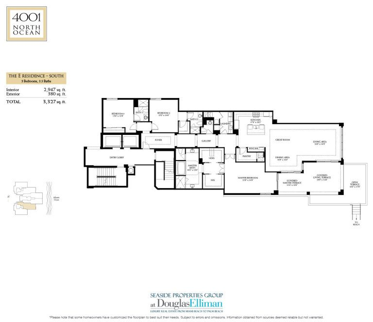 4001 North Ocean Floorplan