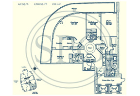 06 Floorplan for Continuum, Luxury Oceanfront Condos in Miami Beach, Florida 33139