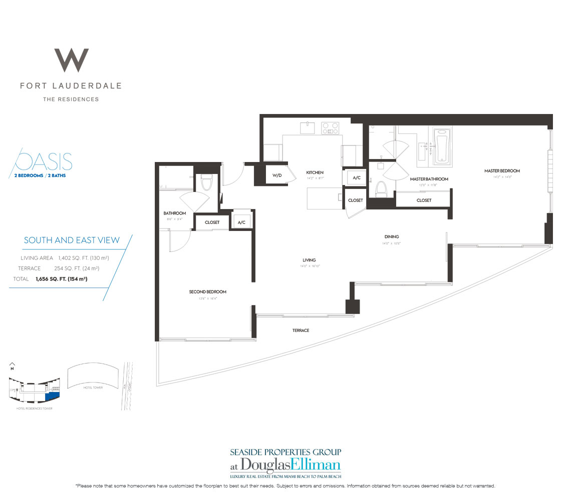 The W Fort Lauderdale, Luxury Oceanfront Condos In Fort Lauderdale, 33304