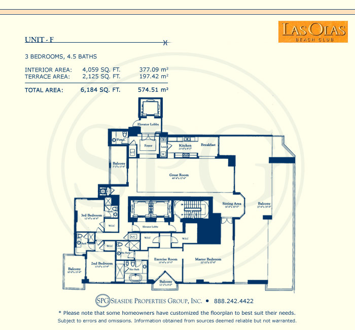 Las Olas Beach Club Floorplan