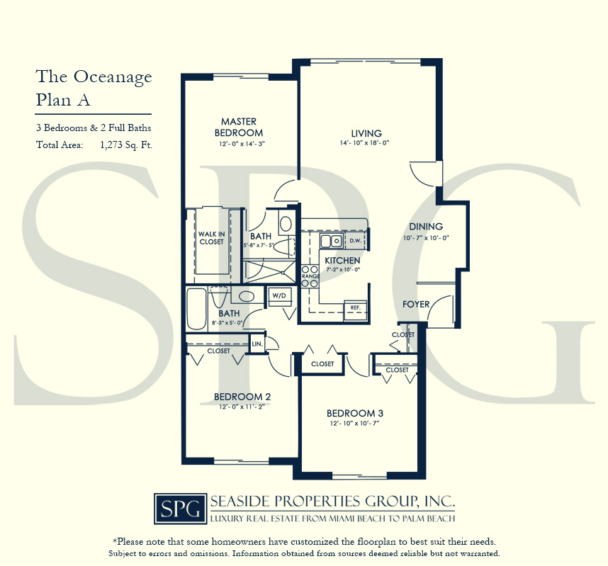 Residence A Floorplan at The Oceanage Luxury Waterfront Condo on Fort Lauderdale Beach