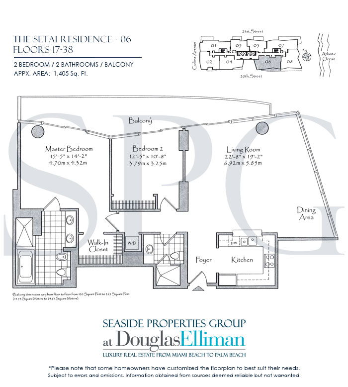 Residence 06 Floorplan at The Setai, Luxury Oceanfront Condo Residences on Miami Beach, Florida 33139