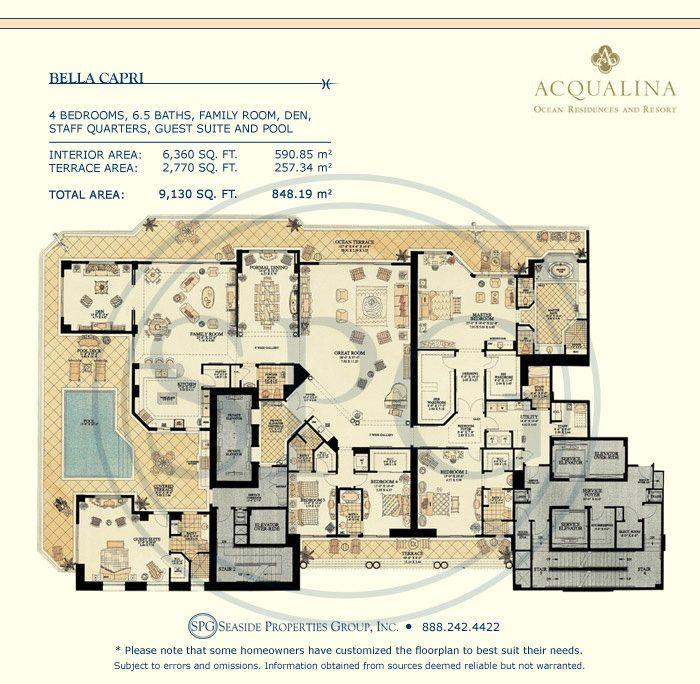 Acqualina floor plans luxury oceanfront condos in sunny for Oceanfront floor plan