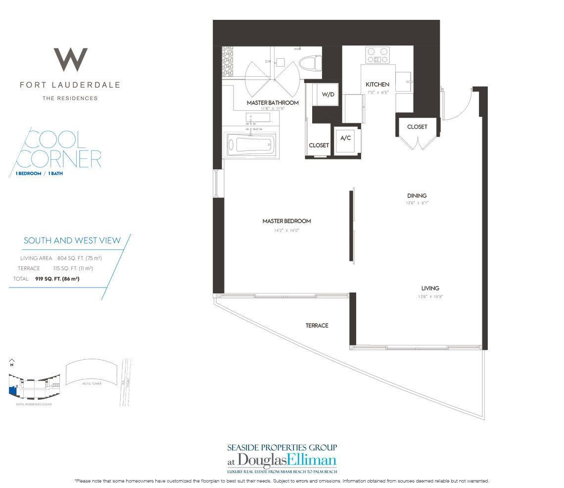 The W Fort Lauderdale Floor Plans, Luxury Oceanfront