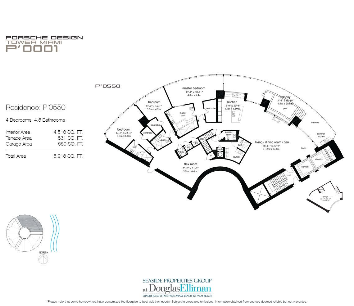 Porsche Design Tower Miami Floor Plans Luxury Oceanfront
