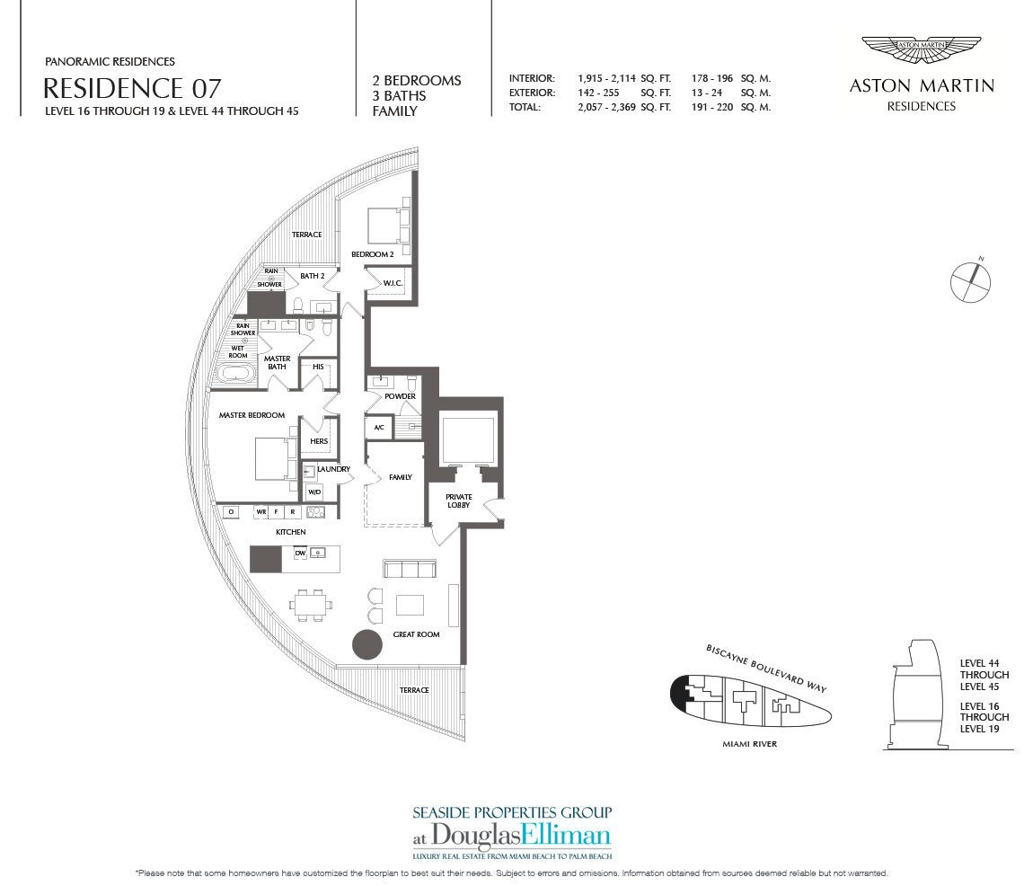 Aston Martin Residences Floor Plans, Luxury Waterfront