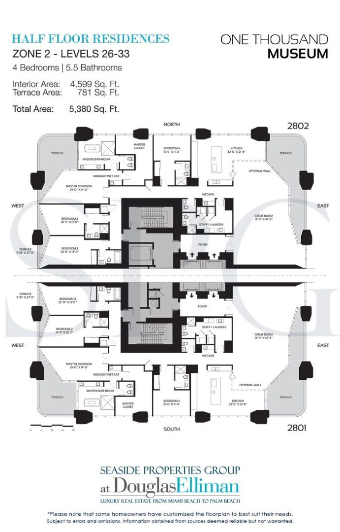 One thousand museum floor plans luxury waterfront condos for 1000 museum miami floor plans