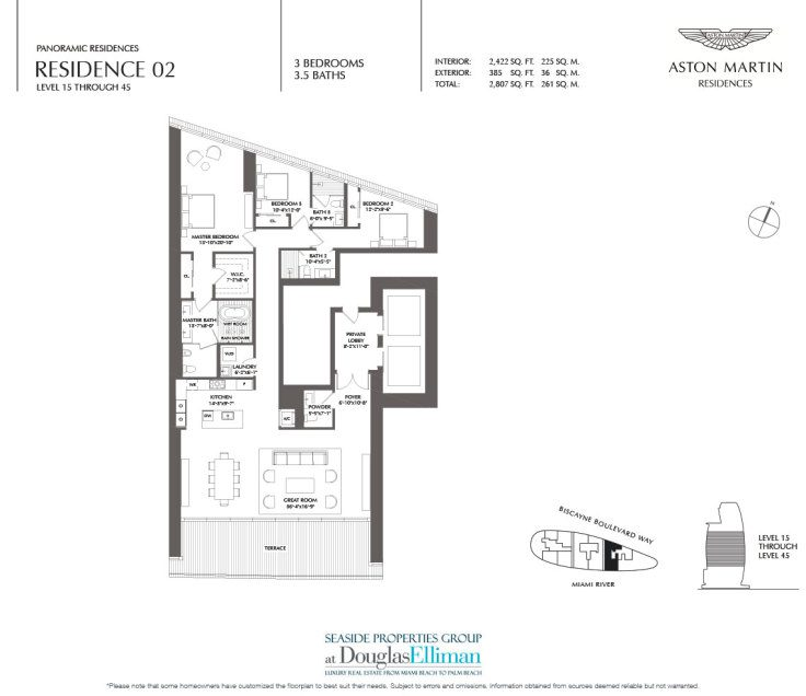 Aston Martin Residences Floor Plans Luxury Waterfront Condos In Miami