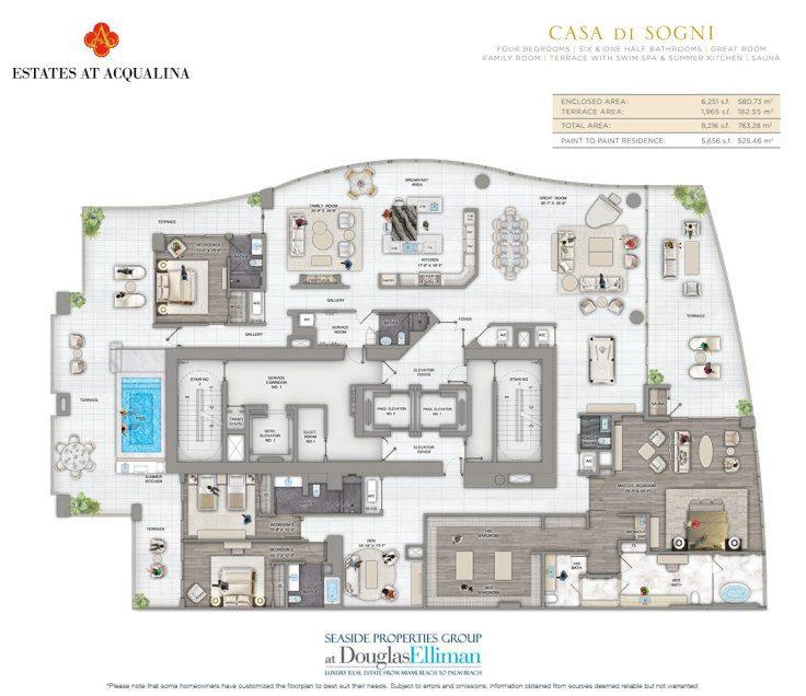 Estates At Acqualina Floor Plans Luxury Oceanfront Condos In Sunny Isles Beach Florida 33160