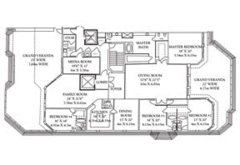 Click to View Penthouse 3 Floorplan