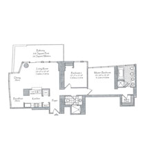 Thumbnail Residence 01 Floorplan at The Setai, Luxury Oceanfront Condo Residences on Miami Beach, Florida 33139