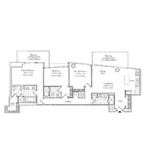 Thumbnail Residence 03/05 Floorplan at The Setai, Luxury Oceanfront Condo Residences on Miami Beach, Florida 33139