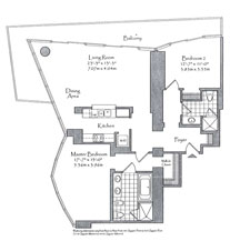 Thumbnail Residence 08 Floorplan at The Setai, Luxury Oceanfront Condo Residences on Miami Beach, Florida 33139