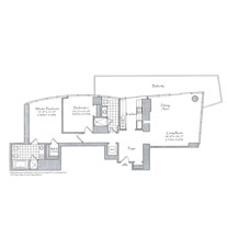 Thumbnail Residence 07 Floorplan at The Setai, Luxury Oceanfront Condo Residences on Miami Beach, Florida 33139