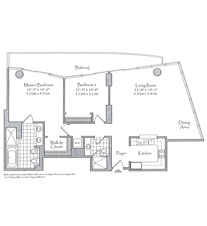 Thumbnail Residence 06 Floorplan at The Setai, Luxury Oceanfront Condo Residences on Miami Beach, Florida 33139