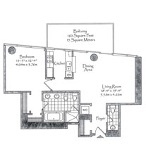 Thumbnail Residence 05 Floorplan at The Setai, Luxury Oceanfront Condo Residences on Miami Beach, Florida 33139