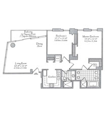 Thumbnail Residence 04 Floorplan at The Setai, Luxury Oceanfront Condo Residences on Miami Beach, Florida 33139