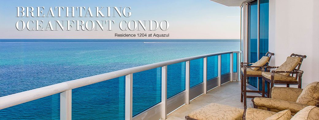FEATURED RESIDENCE FOR SALE - LUXURY OCEANFRONT RESIDENCE 1204 AT AQUAZUL IN LAUDERDALE BY THE SEA, FLORIDA