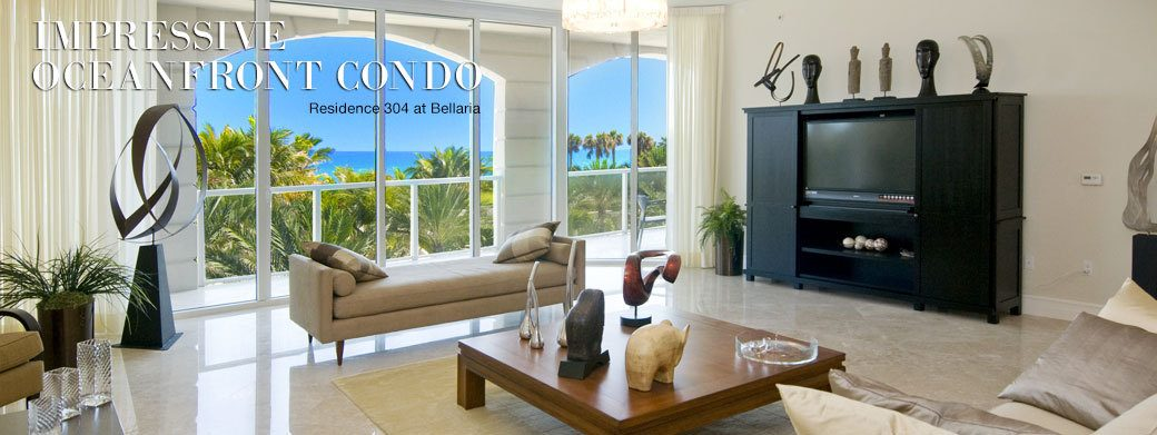 FEATURED RESIDENCE FOR SALE - LUXURY OCEANFRONT RESIDENCE 304 AT BELLARIA IN PALM BEACH, FLORIDA