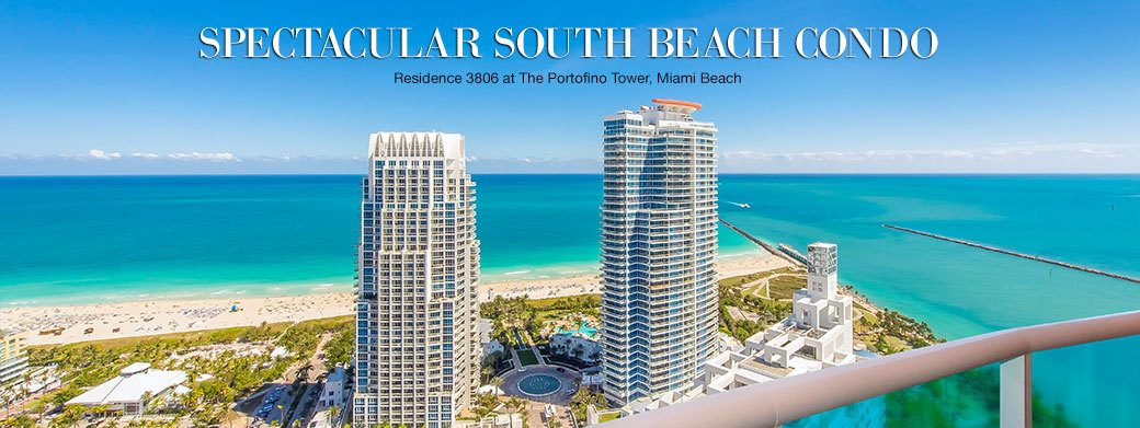 FEATURED RESIDENCE FOR SALE - LUXURY RESIDENCE 3806 AT PORTOFINO TOWER IN MIAMI BEACH, FLORIDA