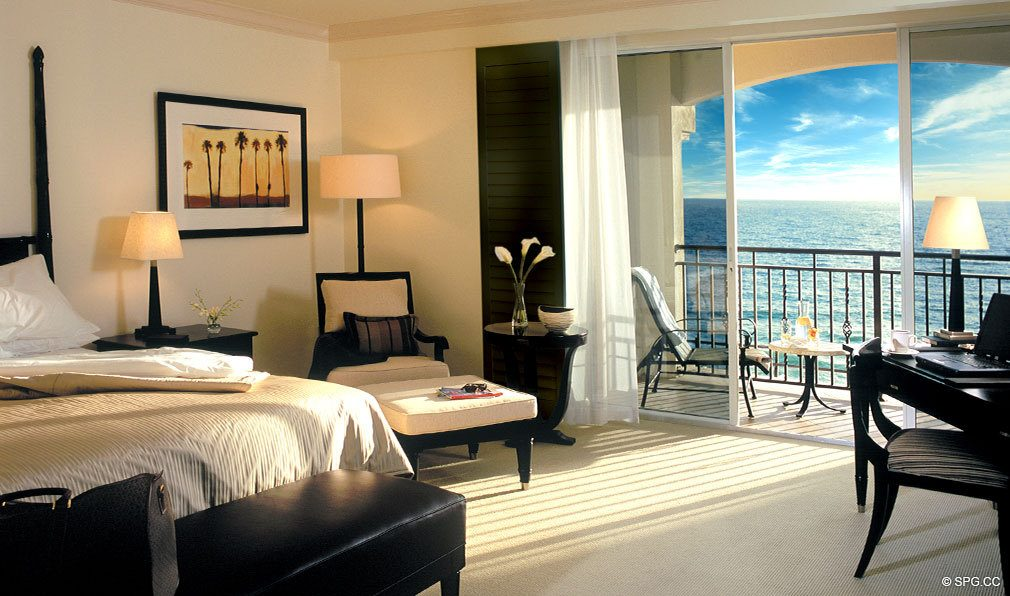Bedroom at The Atlantic, Luxury Oceanfront Condominiums Located at 601 North Fort Lauderdale Beach Blvd, FL 33304