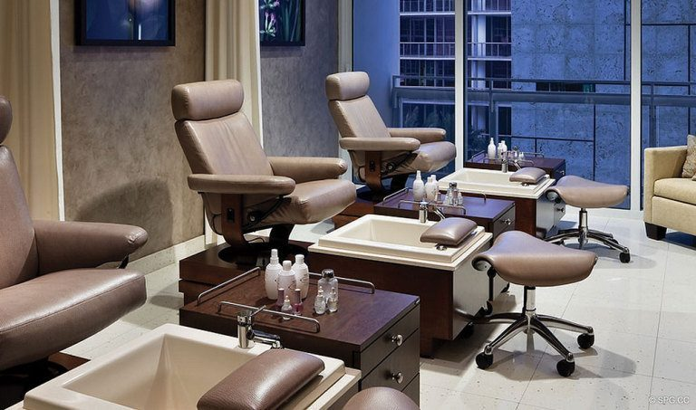 Spa Pedicures at Canyon Ranch Living, Luxury Oceanfront Condominiums Located at 6799-6899 Collins Avenue, Miami Beach, FL 33141