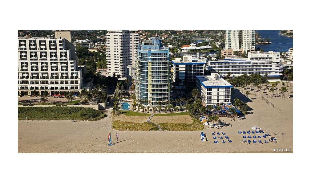 View of Coconut Grove Residences, Luxury Oceanfront Condominiums Located at 1200 Holiday Dr, Fort Lauderdale, FL 33316
