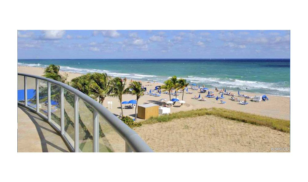 Beach View from Coconut Grove Residences, Luxury Oceanfront Condominiums Located at 1200 Holiday Dr, Fort Lauderdale, FL 33316