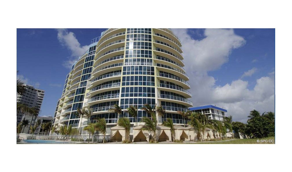 Another Outside View of Coconut Grove Residences, Luxury Oceanfront Condominiums Located at 1200 Holiday Dr, Fort Lauderdale, FL 33316