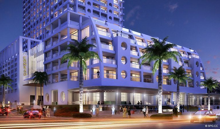 Conrad Hotel And Residences Luxury Oceanfront Iniums Located At 551 North Fort Lauderdale Beach Blvd